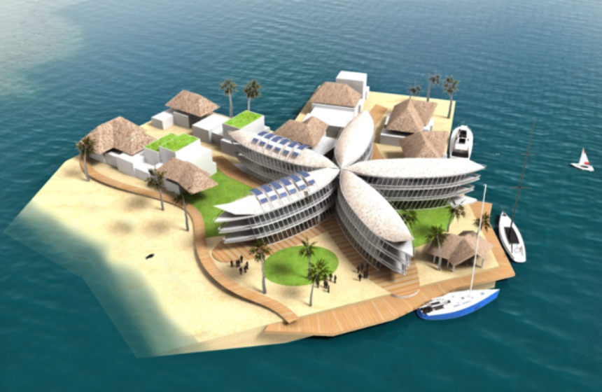Floating city for Polynesia