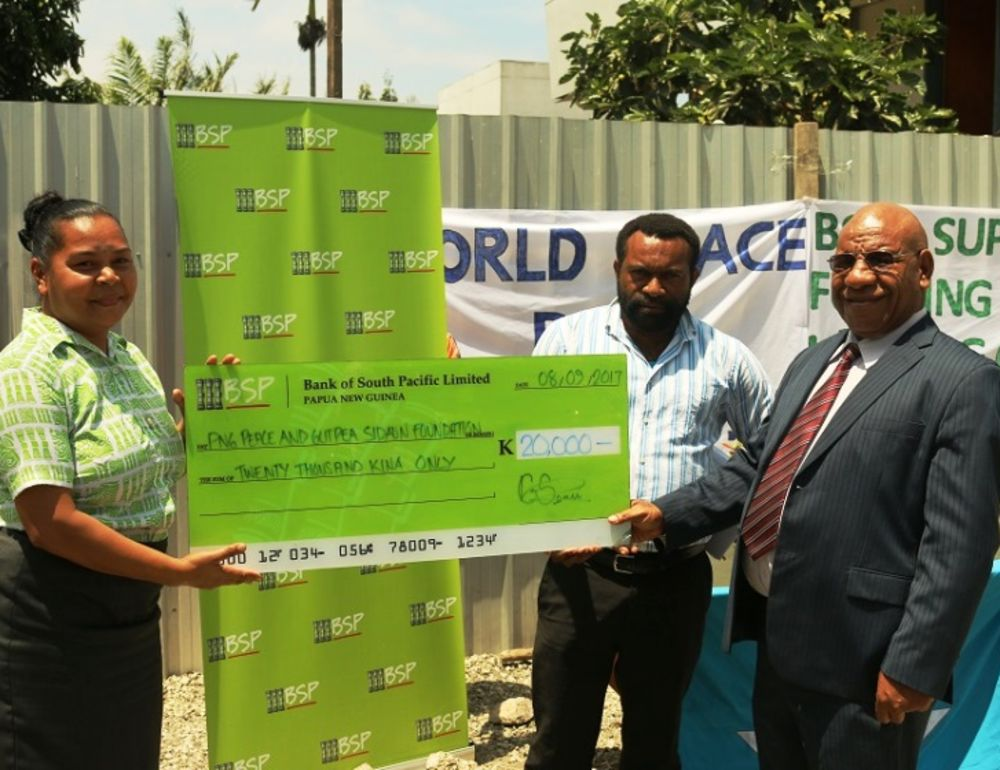 K20,000 donated to anti-violence charity